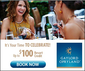 Gaylord Opryland's Your Time to Celebrate – 300×250