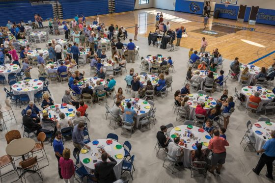 Tables at Daniel Pitino Shelter Event