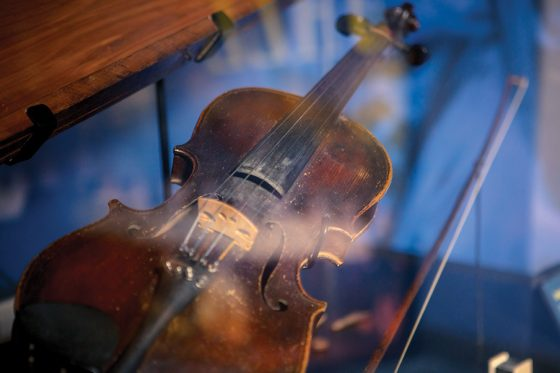 Uncle Pen's Fiddle inside the Bluegrass Music Hall of Fame & Museum