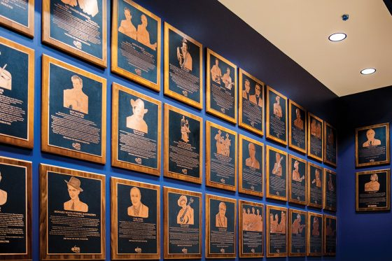 Bluegrass Music Hall of Fame & Museum Inductee plaques