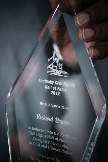 Robert Brown's Kentucky Civil Rights Hall of Fame award