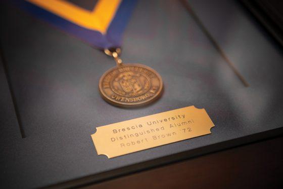 Robert Brown's Brescia University Distinguished Alumni Medal